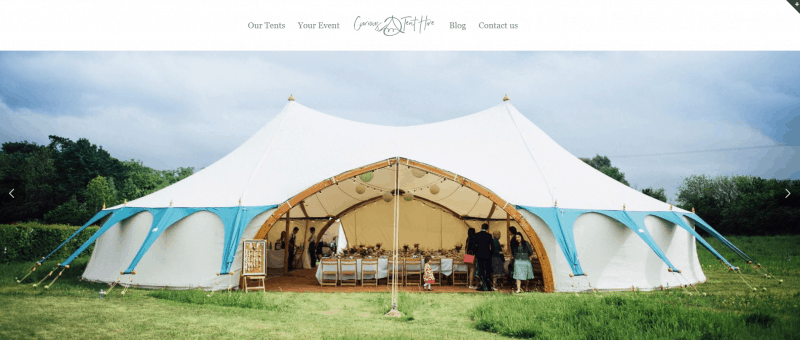 Image of a large wedding tent